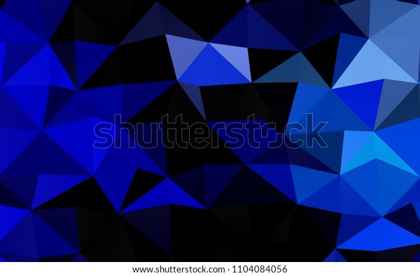 Dark BLUE vertical abstract mosaic background. Glitter abstract illustration with an elegant design. The completely new template can be used for your brand book.