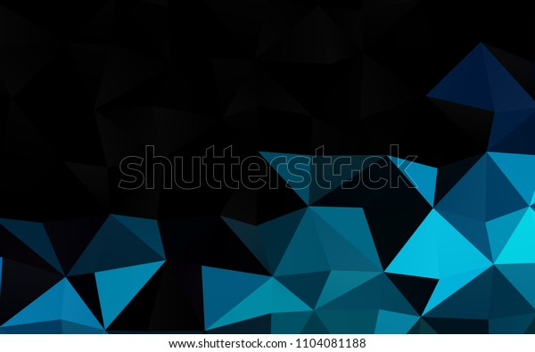 Dark BLUE vertical abstract polygonal background. Modern geometrical abstract illustration with gradient. The polygonal design can be used for your web site.
