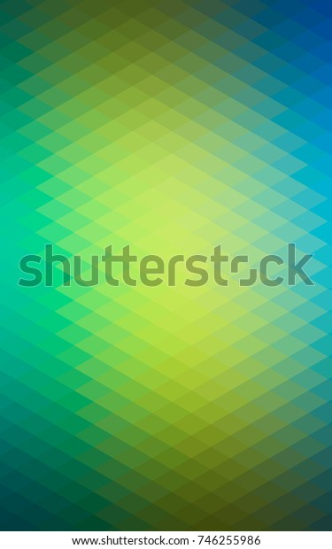 Dark Blue, Yellow polygonal illustration, which consist of rectangles. Rectangular pattern for your business design. Geometric background in Origami style with gradient.