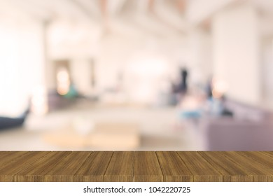 Dark Brown Wooden Table Blur Background 3D illustration Texture