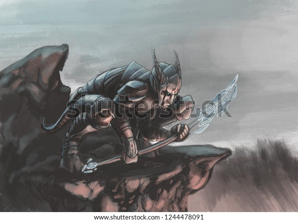 Dark Demon Art Stock Illustration 1244478091 The typical depiction of demons are: https www shutterstock com image illustration dark demon art 1244478091