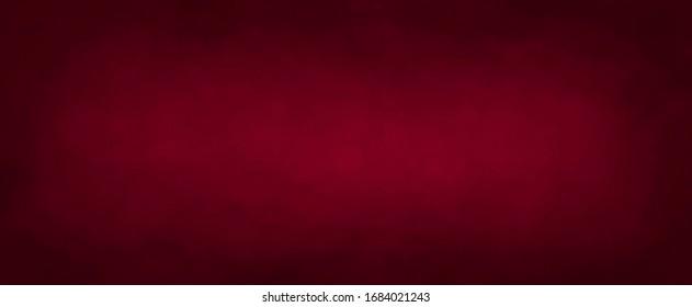 Dark elegant Royal red with soft lightand dark border, old vintage background