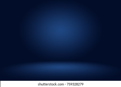 Dark gradient blue studio background for display or montage of product,Business backdrop