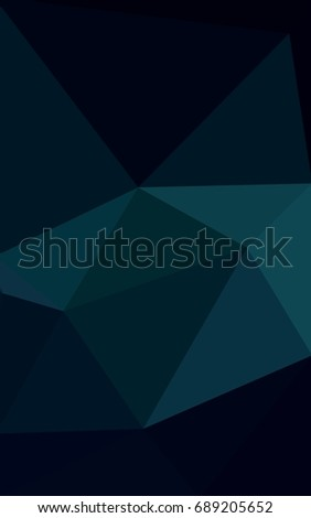 Dark Green Low poly crystal background. Polygon design pattern. Low poly  illustration e73c102e9