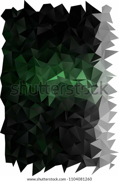 Dark Green vertical abstract mosaic pattern. Colorful illustration in abstract style with gradient. The elegant pattern can be used as part of a brand book.