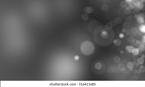 Dark grey background. Abstract glowing bokeh circles or sparks. 3D rendering