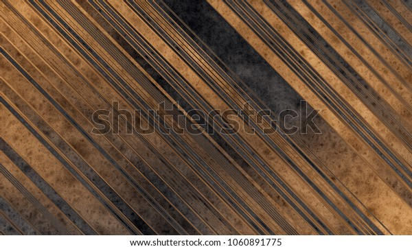 Dark grey and gold Wooden planks texture. Abstract background. 2d illustration