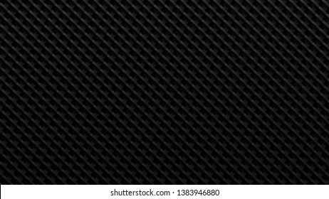 Dark grey metallic carbon fiber like background. 3D rendering