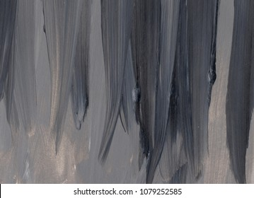 Dark hand drawn acrylic painting. Abstract art background, texture. Fragment of artwork. Spots of paint. Brushstrokes of paint. Modern art. Contemporary art.