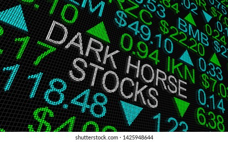 Dark Horse Stocks Underdogs Unexpected Winners 3d Illustration