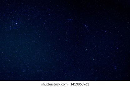 Dark interstellar space illustration. Stars in a deep space
