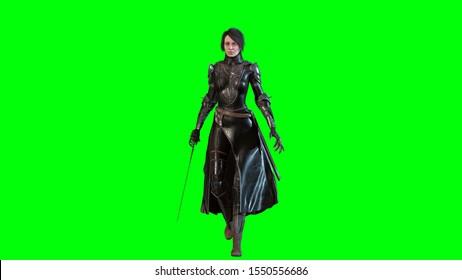 Dark knight lady 3d render