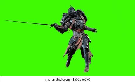 Dark knight men 3d render