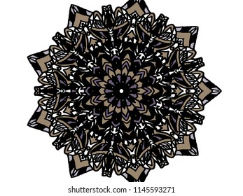 Dark mandala art
