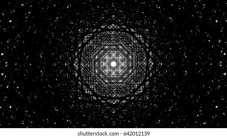 Dark Massive Black and White Stars in a Kaleidoscope Geometric Lined Structure