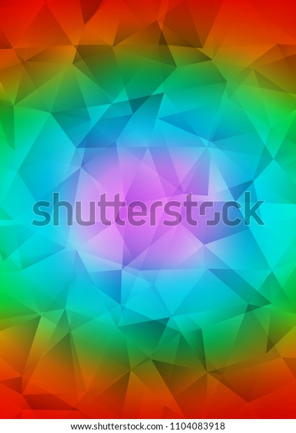 Dark Multicolor, Rainbow polygon abstract pattern. A vague abstract illustration with gradient. A new texture for your design.