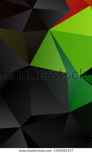Dark Multicolor, Rainbow vertical low poly background. Colorful abstract illustration with gradient. The best triangular design for your business.