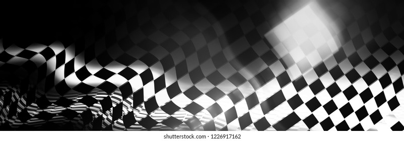 dark mystery background. racing concept