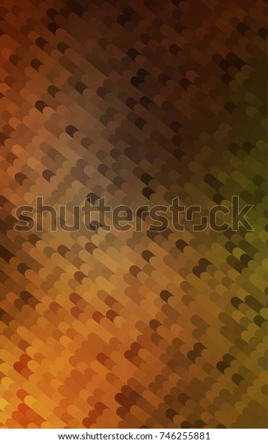 Dark Orange abstract cambered pattern. Shining crooked illustration in a brand-new style. A completely new template for your business design.