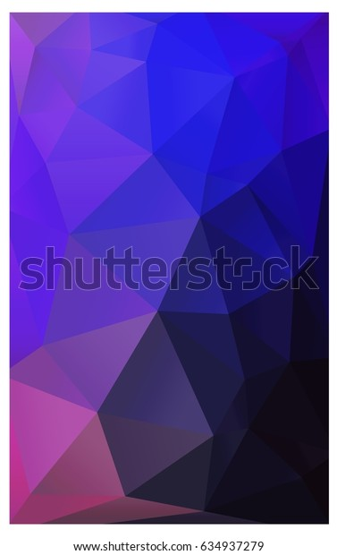 Dark Pink, Blue polygonal illustration, which consist of triangles. Triangular design for your business. Creative geometric background in Origami style with gradient