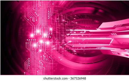 dark pink Light Abstract Technology background for computer graphic website internet and business. circuit. illustration.digital.infographics. binary code. zero one. eye. scan virus