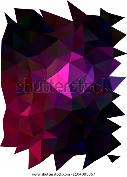 Dark Pink vertical abstract mosaic background. Creative geometric illustration in Origami style with gradient. The textured pattern can be used for background.