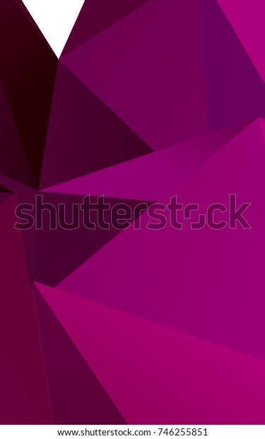 Dark Purple abstract polygonal template. Shining colored illustration in a brand-new style. The completely new template can be used for your brand book.