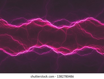 Dark purple lightning, abstract electrical background