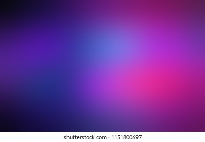 Dark purple, pink, blue defocused backdrop. Ombre texture. Empty background. Blurred pattern. Abstract illustration.