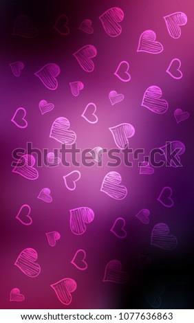 dark purple pink vertical template doodle stock illustration