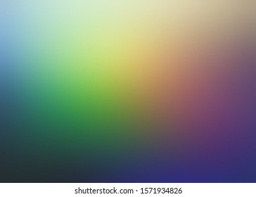 Dark rainbow colors fantastic blur pattern. Lilac blue yellow green gradient background. Secret low light.
