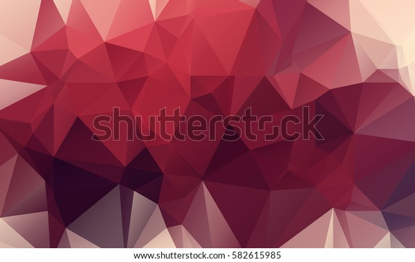 Dark Red Abstract Triangular Mosaic Polygonal Background