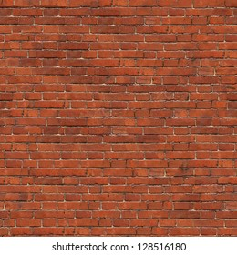 Dark Red Brick Wall Texture. Grunge Seamless Tileable Texture.