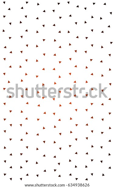 Dark Red of small triangles on white background. Illustration of abstract texture of triangles. Pattern design for banner, poster, cover.