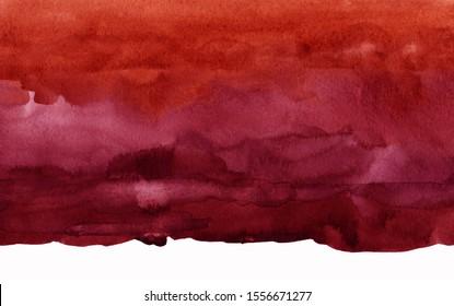 dark red watercolor stain, burgundy background