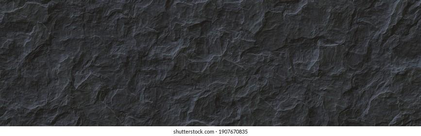 Dark rock texture background.Gray rock slate background.3 D illustration.