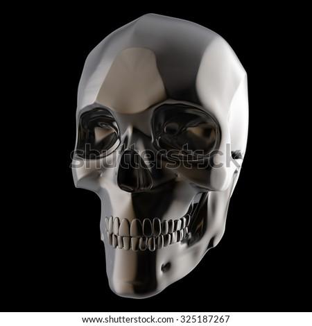 dark shiny polished metal