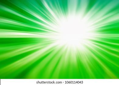 dark and soft green light  abstarct  sunrurst for festive,seasonal background