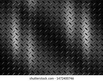 Dark steel surface or black metal texture background