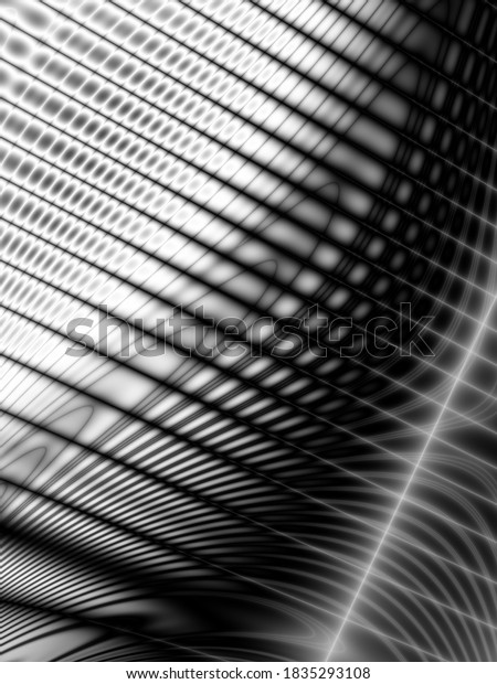 Dark technology wave art surface monochrome background