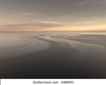 dark water currents on a vast ocean