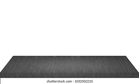 dark wooden shelves isolated on a white background : can be used for montage