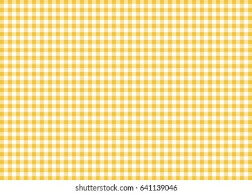 Dark Yellow Gingham Pattern Background