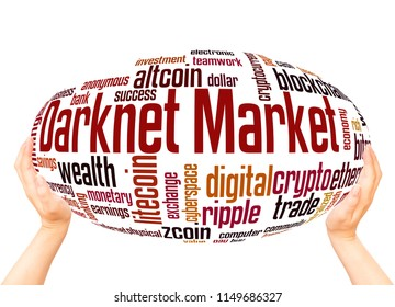 Darknet market word cloud sphere concept on white background.