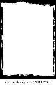 Darkroom Decorative Black & White Photo Frame. Type Text Inside, Use as Overlay or for Layer / Clipping Mask