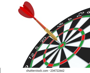 Dart in the bull's-eye