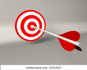 dart  business concept in 3d render
