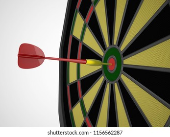 dart game success concept 3d rendering