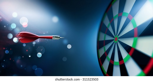 dartboard with arrow about hit