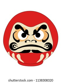 Daruma Japanesse Red Doll